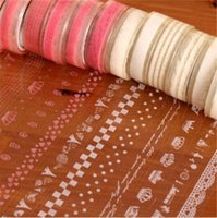 Wholesale 1PCS Hot Lace Roll DIY Washi Paper Decorative Sticky Paper Masking Tape Self Adhesive Colors