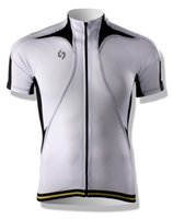 Wholesale SPAKCT Professional Men s Summer Sportwear Bike Bicycle Wear Cycling Short Jersey Jacket Short Sleeves Cooldry White