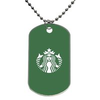best coffee taste - Welcome Starbucks Good Taste Coffee Best Durable Customized Colorful Design Dog Tag Necklace Aluminum Tag for Animal Pets Tag