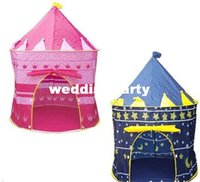 Wholesale 24pcs New Sunmmer Childern kids Playing Indoor Outdoor Pink Blue Palace Play Game Tent Castle Kids Toy