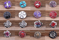 Wholesale SALE styles optional High quality Mix styles mm Metal noosa Snap Button Charm Rhinestone crystal Button Ginger Snaps Jewelry