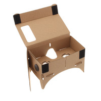 Wholesale High quality DIY Google Cardboard Virtual Reality VR Mobile Phone D Viewing Glasses for