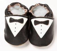 al por mayor zapatos suaves del bebé recién nacido-2015 cuero genuino Niños bebés Zapatos Pajaritas primeros caminante zapato suave Formación NewBorn envío libre Prewalker