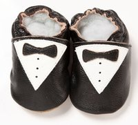Wholesale 2015 Genuine Leather Baby Boys Shoes Bowties First Walkers Soft NewBorn Training Shoe Prewalker