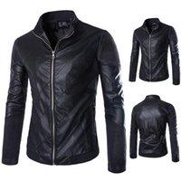 Wholesale Men s new winter leather stitching leather cowboy upscale complex M XL