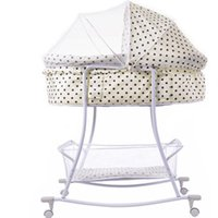 baby crib wheels - Cute Baby Crib Beige Color With Dot For Newborn Boys Or Girls Weight kg About Year With Wheels Easy To Move Hot Sale