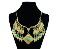 Wholesale 2015 Occident Accessories Tassel Coin Necklace Hot Sale Clavicle Necklace Women Jewelry Accesories For Women Gift