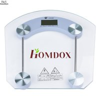 bathroom glass weight - Digital LCD Glass Body Losing Weight Scale Home Bathroom Geometric Scale High Precision kg kg US02 HOMDOX