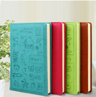 paper notebook - Cute leather Diary Notebook Creative personal diary120 sheets paper Notebook Notepad Office School Supplies Gift