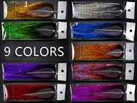 Wholesale Holographic Flashabou Holo Hedron Fly Tying Materials Colors About Strands C401ZH