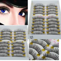 eyelash extensions - 60Pairs Long Extension Cross False Eyelashes Makeup Natural Fake Thick Black Eye Lashes Beauty Free Ship