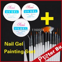acrylic paint clear - Colours UV Nail Art Builder Acrylic Gel Clear White Pink set nail art Design Painting Pen kit