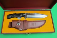 Wholesale New Arrival Fox M2 Cr17Mov Outdoor Survival Camping Knife HRC Hunting Tactics Straight Knife Xmas Gift With The Original Wood Box