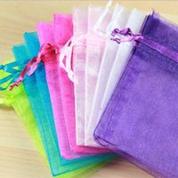 Wholesale Clear Organza Gift Bags cm x cm quot x quot Candy chocolate Holder Party cheap Drawstring Pouches