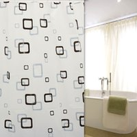 best shower curtains - Best Promotion cm Modern Black and White Square Waterproof Bathroom Shower Curtains With Hooks