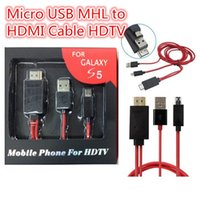 Wholesale 1080P Micro USB MHL to HDMI Adapter MHL HDTV Cable for Samsung Galaxy S4 S5 Note N9000 With Retail Package