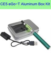 aluminum electronics box - CE5 aluminum case Kit rectangle gift box package for single ego ce4 ego ce5 ego ce6 electronic cigarette starter kit