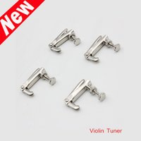 Wholesale 4pcs set Violin Fine Tuner Adjuster Copper Nickel Alloy Silver for Size Violin Accessories New Arrival I710