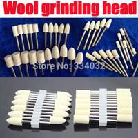 Wholesale 120x round felt wool buffing polishing wheel deburring grinding abrasives metal dremel tools accessories rotary wool for felting