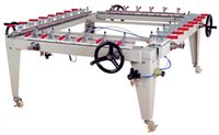 screen printing machine - Chain Screen Stretching Machine Clamp Chuck Precision Stretcher L1500 W1200mm Make Screen Printing Plate Mesh Net Machine Pulling Machine