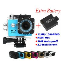 Wholesale Two Batteries Gopro Style Full HD DVR Action Camera W9 wifi P Waterproof M Mini DV Wide Angle WIFI