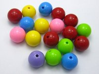 Wholesale fashion necklace pendant ball100pcs candy Mixed Bubblegum Color Acrylic Round Beads mm quot Smooth Ball jewelry accessories