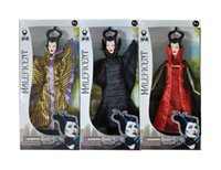 Wholesale 11 inch Anime Maleficent doll Classic Girls brinquedos Collection baby toy doll for kids with package box stlyes mixed