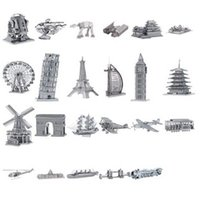 Wholesale 3D DIY Metal build model for adult kids kindergarten educational toys miniature three dimensional sculptures Jigsaw Puzzle for children S040