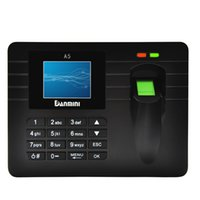 Wholesale 2 quot TFT LCD Display Biometric Fingerprint Attendance Machine DC V A Time Clock Recorder Employee Checking in Reader A5