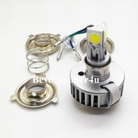 Wholesale BigPromotion W Motorcycle LED Headlight H4 Hi Lo bulb sides degree lighting All in one driver