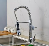 Wholesale Best Quality And Retail Chrome Solid Brass Water Power Kitchen Faucet Swivel Spout Pull Out Vessel Sink Mixer Tap TY966