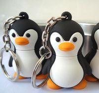 animal thumb drives - cartoon cute penguin plastic USB Flash Memory Pen Thumb Drive Stick U Disk Real GB GB GB GB GB free gift box