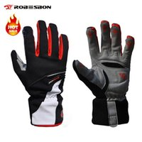 Wholesale Brand Robesbon High quality Warm in Winter Thickening Bike Bicycle Gloves Fleece Windproof Waterproof Full Finger Cycling Gloves