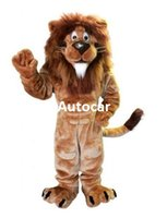 Wholesale Men s Cartoon Lion Mascot Costume Adult Mascot Men s for Party and Valentine s Day Thanksgiving Day Christmas Halloween and New Years