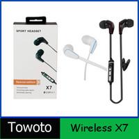 Cheap X7 Wireless Headphones Sport Neckband Headset In-ear Headphone Bluetooth Earphones For Mobile Phone iphone Galaxy LG 002905