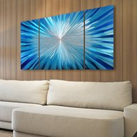 Wholesale Modern home decor aluminum art painting wall art wall pictures for bedroom paint that changes color