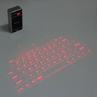 Wholesale Promotion Atongm Mini Wireless Laser Projection Keyboard Bluetooth Virtual Laser Keyboard Touchpad for Android IOS phones tablet laptops DHL