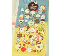 Wholesale Sweet Ice Cream Adhesive Stickers Scrapbooking DIY Decoration Stickers Mobile Phone Stickers