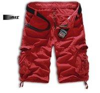 Wholesale 2015 new summer casual shorts men s pants men s shorts pants Cargo Pants Loose straight Multi pocket Shorts red