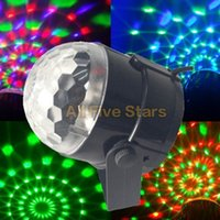 Wholesale 3W Mini RGB LED Projector DJ lighting Light dance Disco Sound Voice activated Crystal Magic ball bar Party Christmas Stage Lights Show