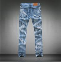 autumn orange paint - jeans men s fashion Painting Slim Tiger Designer Denim Jeans Men Big Sale Autumn Clothes Fashion Brand Men s Pants