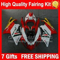 aprilia rsv factory - 7gifts Red white Bodywork For Aprilia RSV1000R RSV1000 R CL3 RSV R Factory red R Fairing Kit