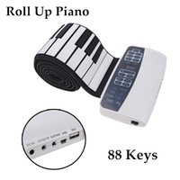 Wholesale New Arrivel Electronic Piano Keyboard Flexible Roll Up Piano MP3 Function USB Port with Sustain Pedal Loud Speaker Keys