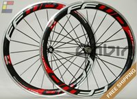 Wholesale New C FFWD F5R mm clincher rim Road bike K carbon bicycle wheelset with alloy brake surface carbon wheels