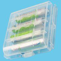 Wholesale Original new AAA AA Multi function Holder Transparent Plastic Hard Rack Battery Storage Case Box