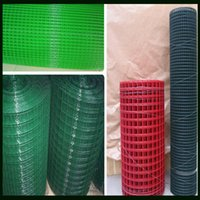 Wholesale China Colorful Welded Wire Mesh Factory Green Red Black etc You can Choose PVC Coated Finish