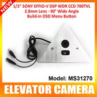 Wholesale 1 Sony TVL mm Super HAD CCD II Elevator Vandalproof Mini CCTV Camera With OSD Menu