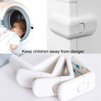 Wholesale Newest White ABS Baby Kids Infant Safety Cabinet Cupboard Door Fridge Wardrobe Drawer Lock For Child Care Security