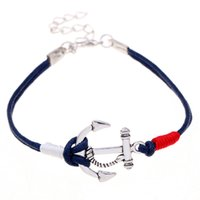 anchor jewelry - New style pulseira couro simple colorful bracelet pulsera hombre multicolor jewelry energy anchor bracelets for men and women