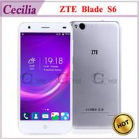 Wholesale 4G LTE Octa Core Andorid Smartphone ZTE Blade S6 Qualcomm MSM8939 inch G G MP OS Dual SIM